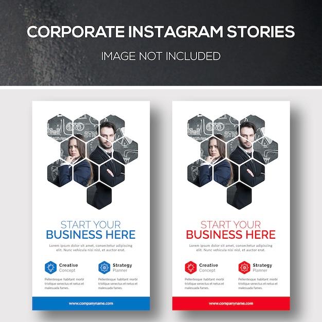 Histoires instagram d'entreprise PSD Premium