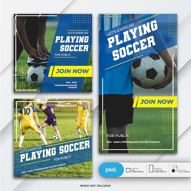 Histoires Instagram Et Modèle De Sport De Bundle Post-bannière PSD Premium