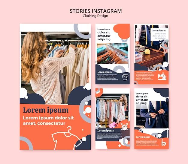 Histoires instagram pour magasin de vêtements Psd gratuit