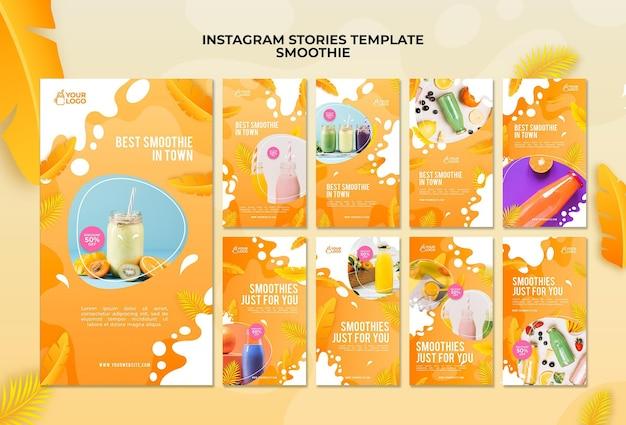 Histoires Instagram De Smoothie Psd gratuit