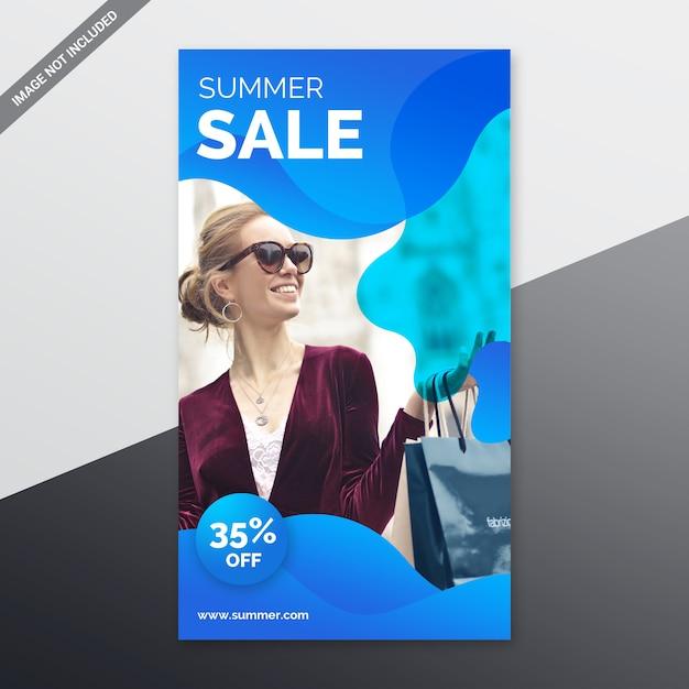 Histoires instagram de soldes d'été PSD Premium