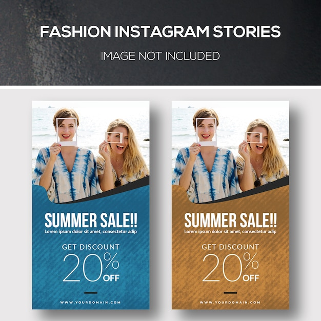 Histoires de mode instagram PSD Premium