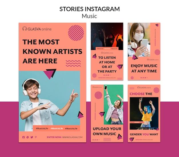Histoires De Musique Instagram Psd gratuit