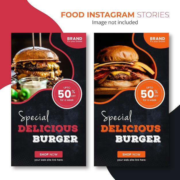 Histoires De Restauration Rapide Sur Instagram PSD Premium