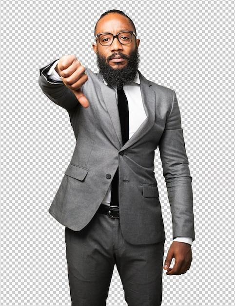 Homme D'affaires Noir PSD Premium
