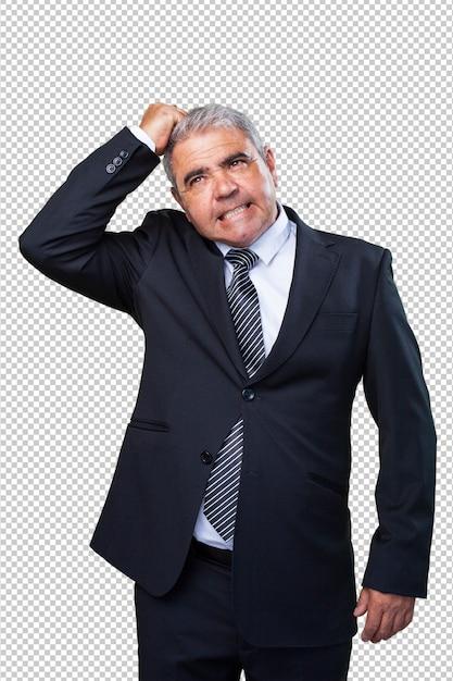 Homme D'affaires Pensant PSD Premium