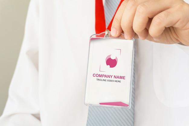 Homme Affaires, Tenue, Id, Carte, Maquette PSD Premium