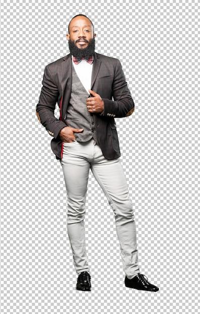 Homme Noir élégant Complet Du Corps Isolé PSD Premium