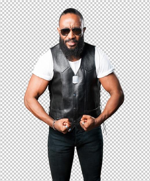 Homme noir fort PSD Premium