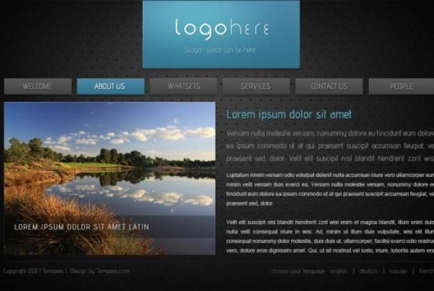 Html Modele De Site Web Dans Un Style Sombre Psd Gratuite