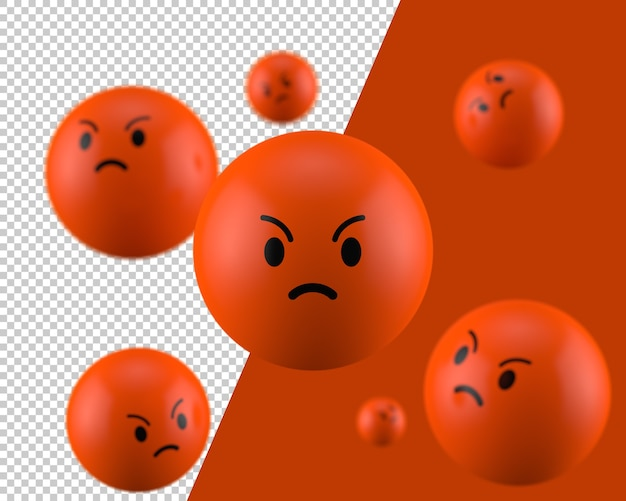 Icone D Emoticone En Colere 3d Psd Premium