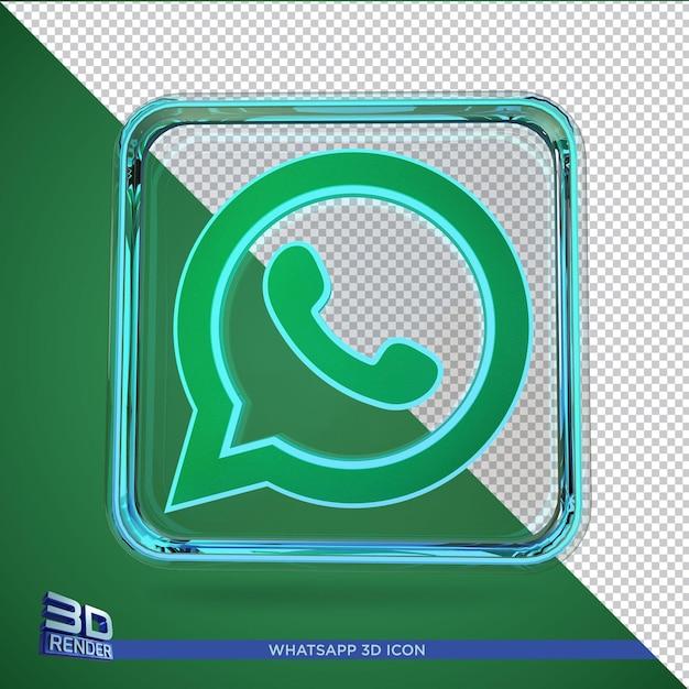Icône De Rendu 3d Whatsapp Isolé PSD Premium