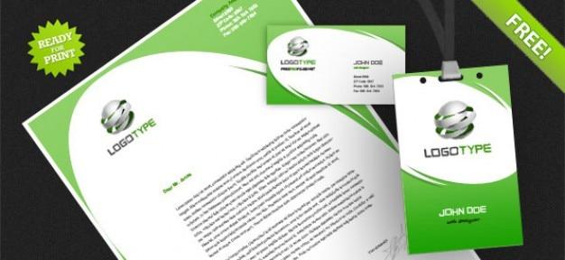 Identité d'entreprise psd paquet Psd gratuit