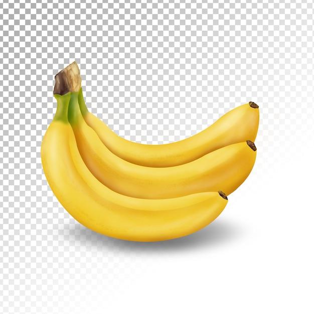 Illustration De La Banane Transparente Isolée PSD Premium
