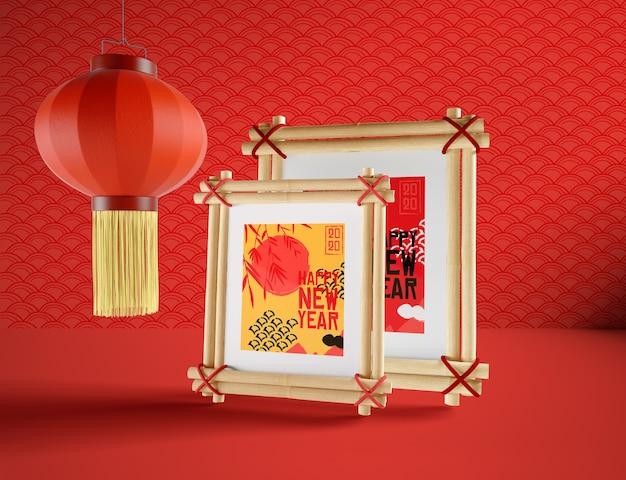 Illustration Simple Pour Le Nouvel An Chinois Psd gratuit