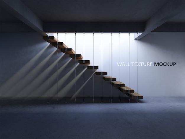 Image De Rendu 3d De L'escalier En Béton Avec Ombre Sur Le Mur PSD Premium