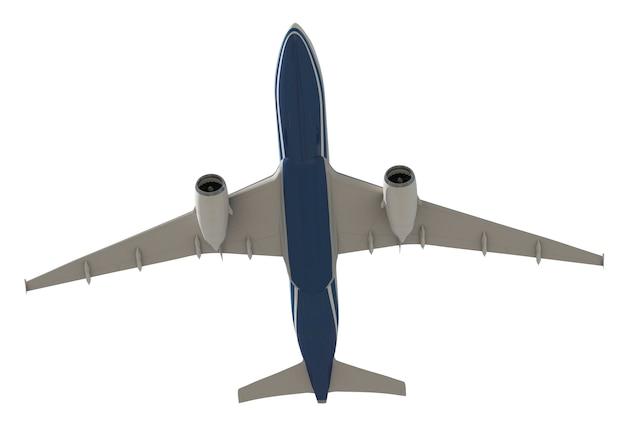 Image tridimensionnelle d'un avion PSD Premium