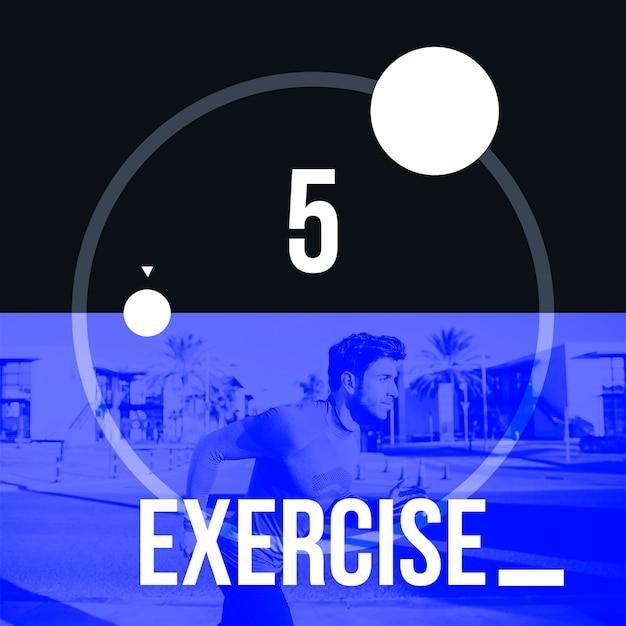 Instagram post background avec concept d'exercice Psd gratuit