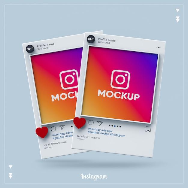 Instagram Social Media 3d PSD Premium
