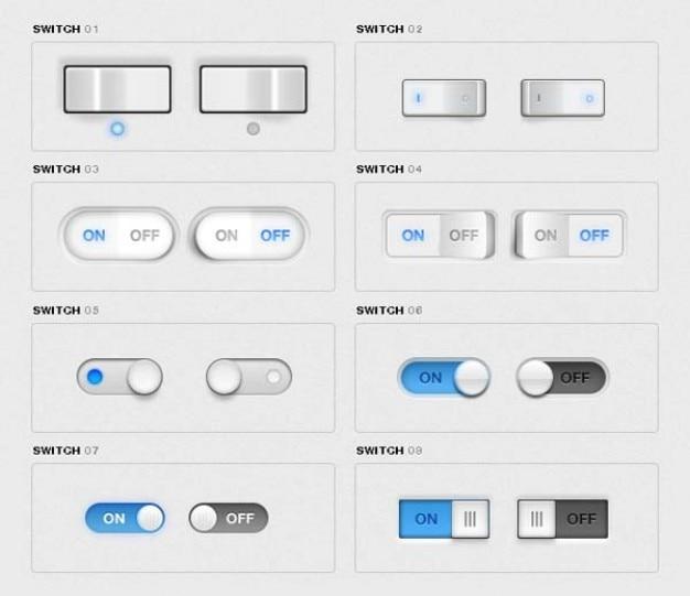 Interrupteurs à Bascule Pack Psd gratuit
