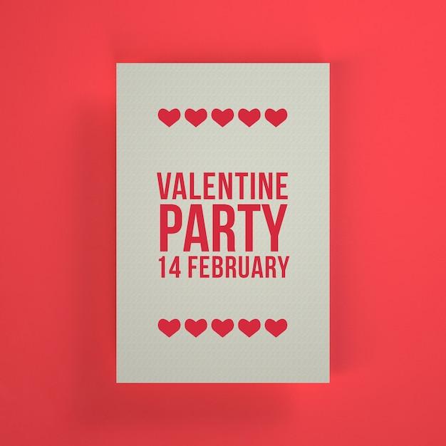 Invitation de la fête de la saint-valentin Psd gratuit