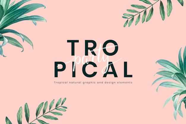 Invitation à une fête tropicale Psd gratuit