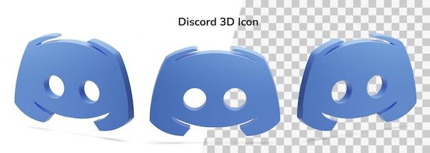 Isolé Discord Logo 3d Render Icône Objet Flottant PSD Premium