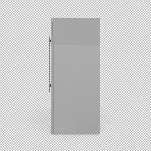 Isometric fridge 3d rendu isolé PSD Premium