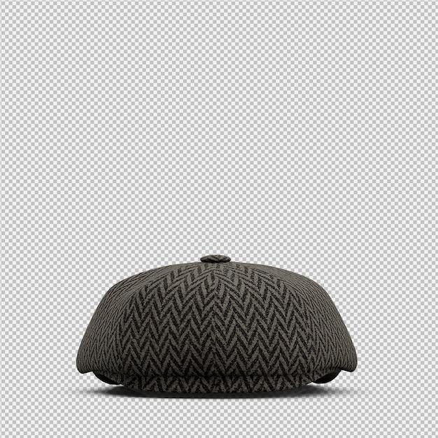 Isométrique chapeau 3d rendu isolé PSD Premium