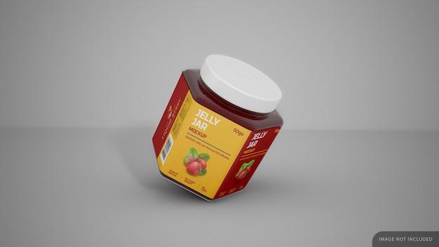 Jelly Jar Avec Maquette D'autocollant D'étiquette PSD Premium