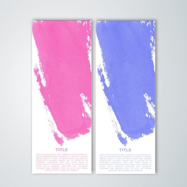 Jeu de bannières colorées de peinture PSD Premium