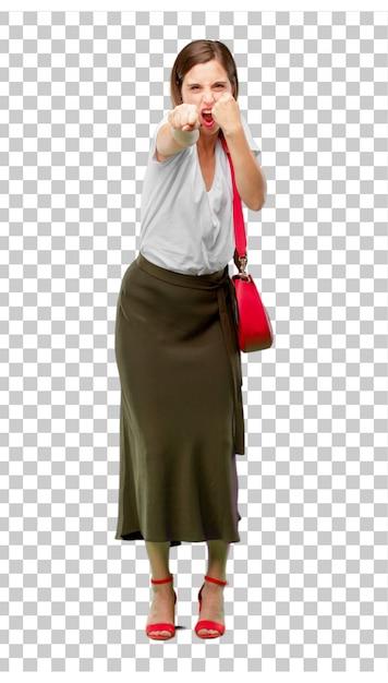 Jeune Femme Jolie Et élégante Découpée Prête à être Placée Dans Votre PSD Premium