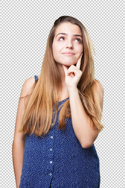 Jeune Femme, Pensée PSD Premium