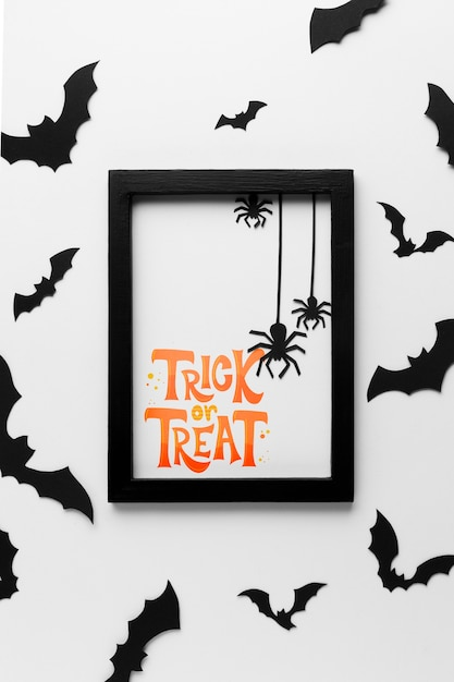 Jour d'halloween avec un message de bonbons ou un sort Psd gratuit