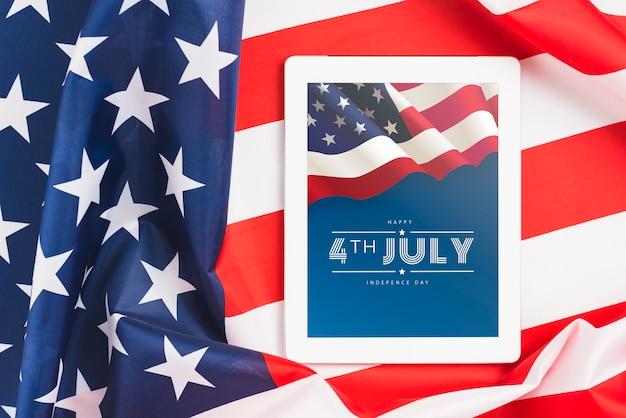 Jour de l'indépendance aux états-unis d'amérique. 4 juillet Psd gratuit