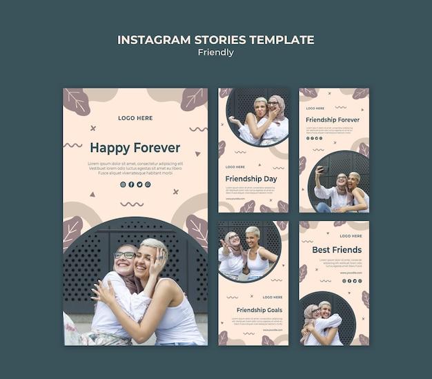 Journée De L'amitié Avec Des Histoires Instagram De Jeunes Adultes Psd gratuit