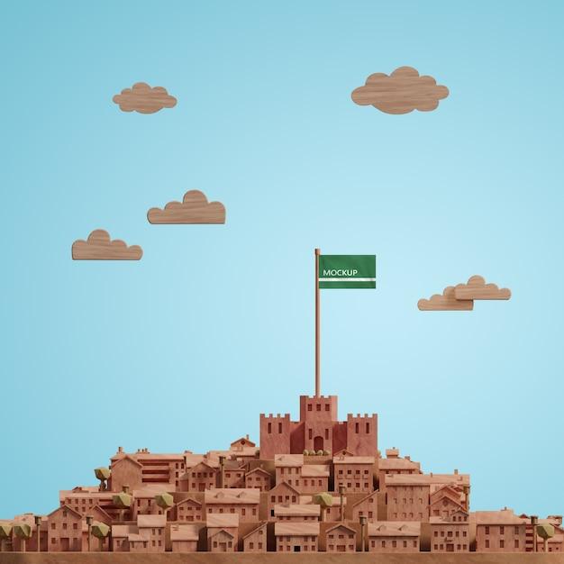 Journée Mondiale Des Villes Maquettes Modèle 3d Psd gratuit