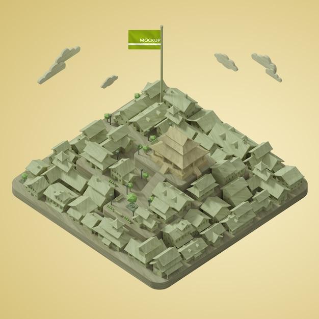 Journée Mondiale Des Villes Maquettes Psd gratuit