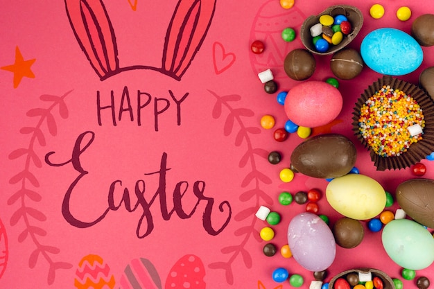 Joyeuses fêtes de pâques Psd gratuit