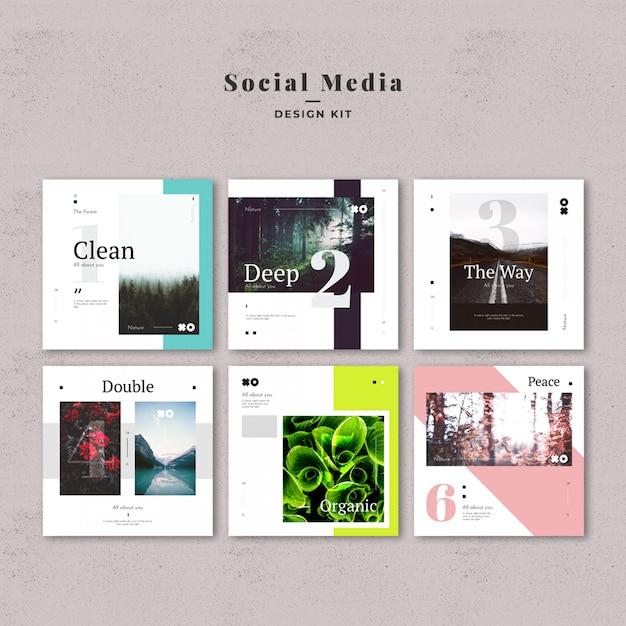 Kit de modèles de médias sociaux PSD Premium