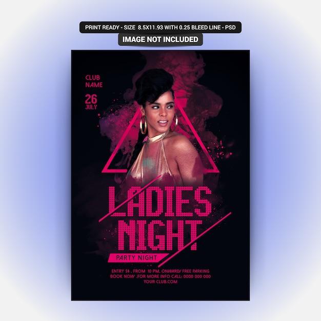 Ladies night party PSD Premium