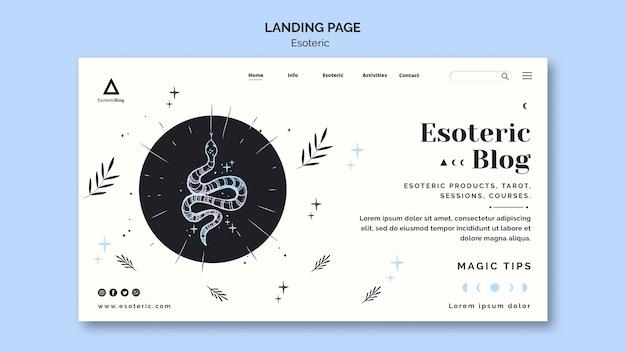 Landing Page Pour Le Blog ésotérique Psd gratuit