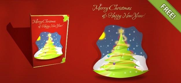 Layered Gratuit Carte De Noël Psd gratuit