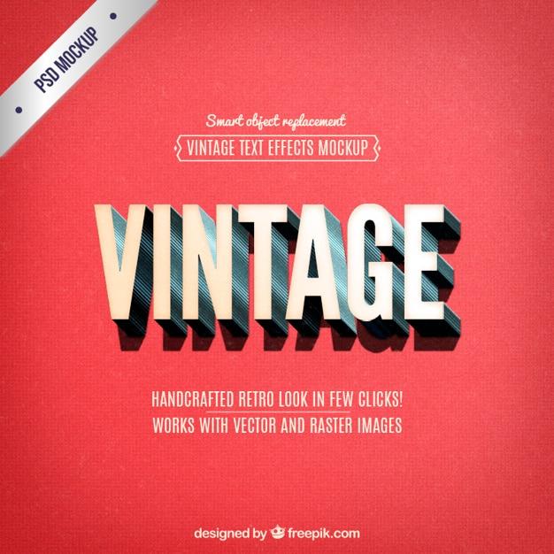 Lettrage vintage Psd gratuit