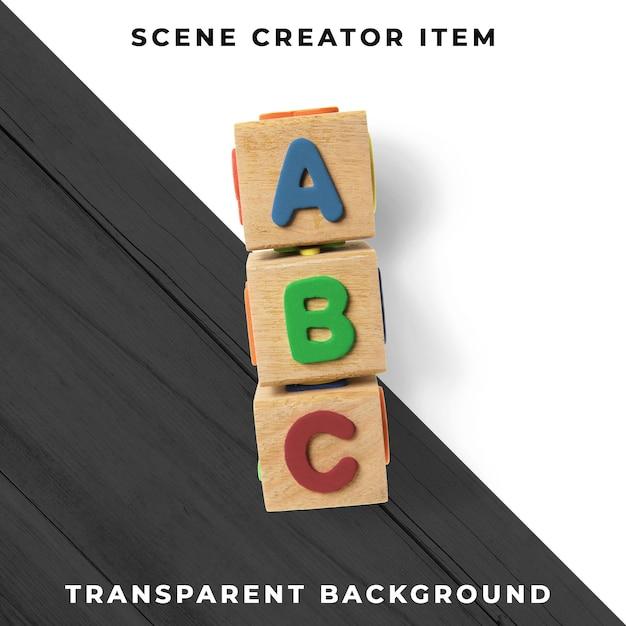 Lettres Sur Cubes En Bois Psd Transparent Psd gratuit