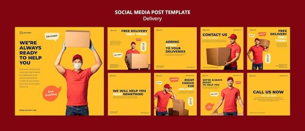 Livraison Du Message Médiatique Social Psd gratuit