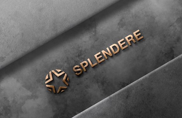 Logo 3d Maquette Mur PSD Premium