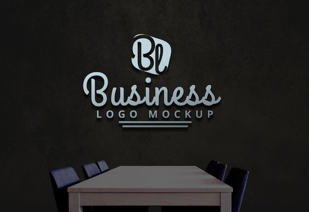 Logo entreprise maquette maquette logo psd PSD Premium