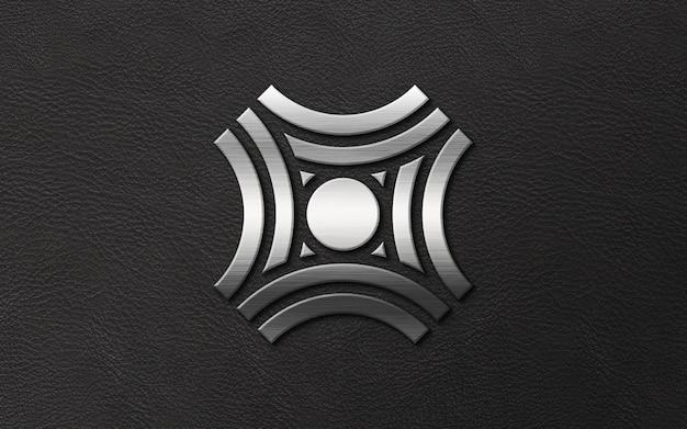 Logo De Luxe 3d Ruban Moderne Sur Maquette En Cuir PSD Premium