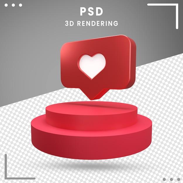 Logo Rotatif 3d Amour Instagram PSD Premium